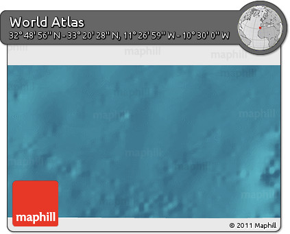 """Satellite 3D Map of the Area around 33°4'42""""N,10°58'29""""W"""