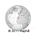 """Outline Map of the Area around 33° 4' 42"""" N, 10° 58' 29"""" W, rectangular outline"""