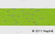 Physical Panoramic Map of Kangzhai