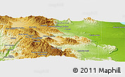 """Physical Panoramic Map of the area around 33°4'42""""N,116°22'30""""W"""
