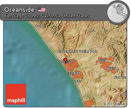 Free Satellite Map of Oceanside