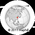 Outline Map of Jiangsu, rectangular outline
