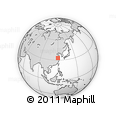 Outline Map of Zoumafang, rectangular outline