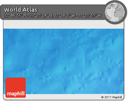 """Shaded Relief 3D Map of the Area around 33°4'42""""N,11°49'29""""W"""