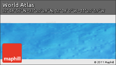 """Shaded Relief Panoramic Map of the Area around 33°4'42""""N,11°49'29""""W"""