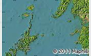 "Satellite Map of the area around 33°4'42""N,129°16'30""E"