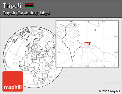 Free Blank Location Map of Tripoli