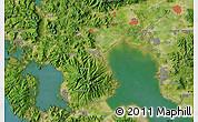 "Satellite Map of the area around 33°4'42""N,130°7'30""E"