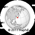Outline Map of Ainan, rectangular outline