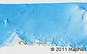 """Shaded Relief 3D Map of the area around 33°4'42""""N,16°55'29""""W"""