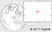 """Blank Location Map of the area around 33°4'42""""N,16°55'29""""W"""