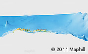 """Physical Panoramic Map of the area around 33°4'42""""N,16°55'29""""W"""