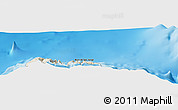 """Shaded Relief Panoramic Map of the area around 33°4'42""""N,16°55'29""""W"""
