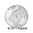 """Outline Map of the Area around 33° 4' 42"""" N, 28° 7' 30"""" E, rectangular outline"""