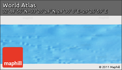 """Shaded Relief Panoramic Map of the Area around 33°4'42""""N,28°58'30""""E"""