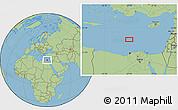 "Savanna Style Location Map of the area around 33°4'42""N,29°49'30""E"