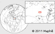 """Blank Location Map of the area around 33°4'42""""N,31°31'29""""E"""