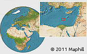 """Satellite Location Map of the area around 33°4'42""""N,31°31'29""""E"""