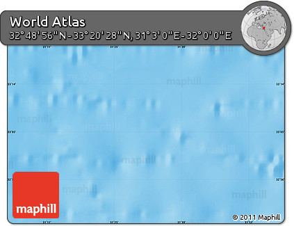 """Shaded Relief Map of the Area around 33°4'42""""N,31°31'29""""E"""