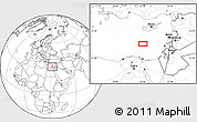 """Blank Location Map of the area around 33°4'42""""N,32°22'30""""E"""