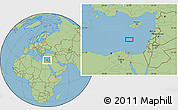 "Savanna Style Location Map of the area around 33°4'42""N,32°22'30""E"