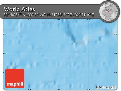 """Shaded Relief Map of the Area around 33°4'42""""N,32°22'30""""E"""
