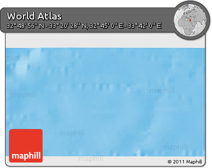 """Shaded Relief 3D Map of the Area around 33°4'42""""N,33°13'30""""E"""