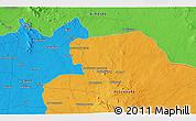 Political 3D Map of Izra`