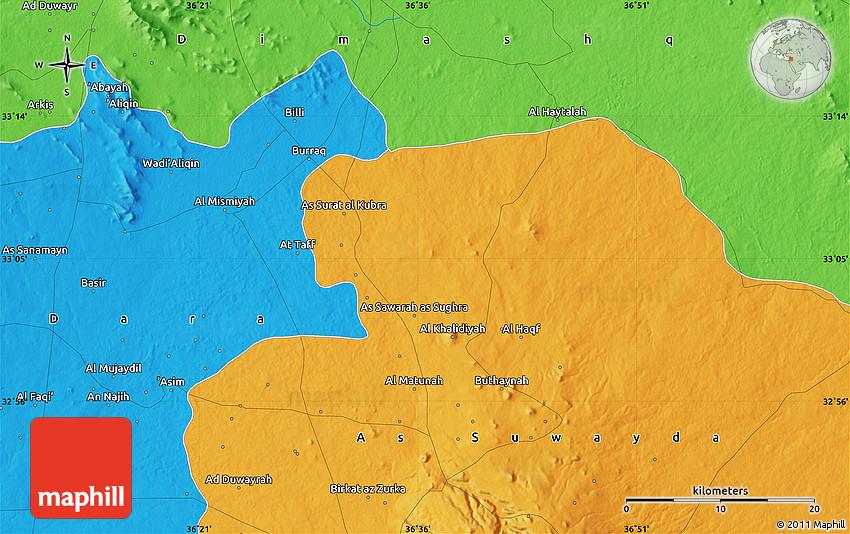 Political Map of Al Mat nah