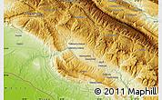 Physical Map of Malakābād