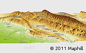 Physical Panoramic Map of Cham Anār-e `Olyā
