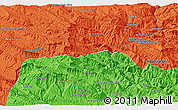 """Political 3D Map of the area around 33°4'42""""N,48°31'29""""E"""