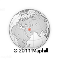 """Outline Map of the Area around 33° 4' 42"""" N, 48° 31' 29"""" E, rectangular outline"""