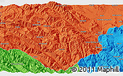 """Political 3D Map of the area around 33°4'42""""N,49°22'30""""E"""