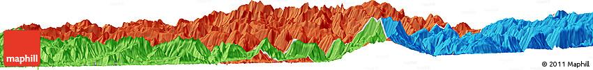 "Political Horizon Map of the Area around 33° 4' 42"" N, 49° 22' 30"" E"