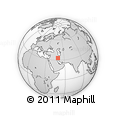 """Outline Map of the Area around 33° 4' 42"""" N, 49° 22' 30"""" E, rectangular outline"""