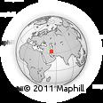 Outline Map of Shahin Shahr, rectangular outline