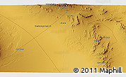 """Physical 3D Map of the area around 33°4'42""""N,53°37'30""""E"""