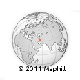 """Outline Map of the Area around 33° 4' 42"""" N, 54° 28' 30"""" E, rectangular outline"""