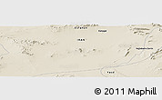 """Shaded Relief Panoramic Map of the area around 33°4'42""""N,54°28'30""""E"""