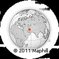 Outline Map of Robāţ-e Posht-e Bādām, rectangular outline
