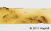 "Physical Panoramic Map of the area around 33° 4' 42"" N, 55° 19' 30"" E"