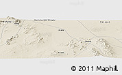 "Shaded Relief Panoramic Map of the area around 33° 4' 42"" N, 55° 19' 30"" E"
