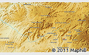 Physical 3D Map of Moulay Bou Azza