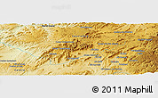 Physical Panoramic Map of Moulay Bou Azza