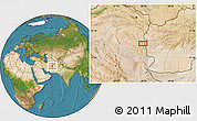 """Satellite Location Map of the area around 33°4'42""""N,60°25'29""""E"""