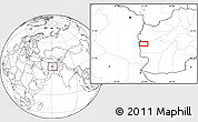 """Blank Location Map of the area around 33°4'42""""N,61°16'29""""E"""