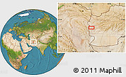 """Satellite Location Map of the area around 33°4'42""""N,61°16'29""""E"""