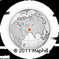 Outline Map of Qaryeh-ye Golbast, rectangular outline