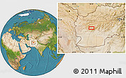 """Satellite Location Map of the area around 33°4'42""""N,63°49'30""""E"""